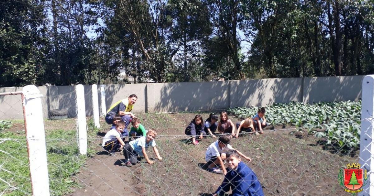 """Projeto """"Horta Escolar"""" reúne 180 alunos da Extensão II no distrito de São Cristóvão"""