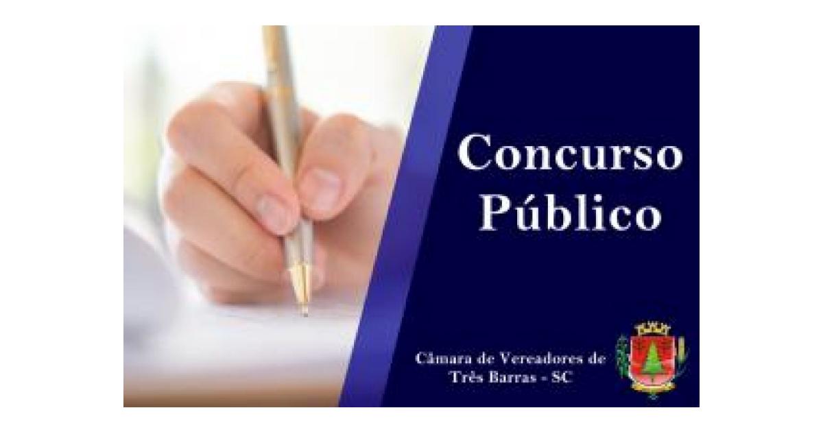 Prorrogado o prazo de inscrição para o concurso público da Câmara de Vereadores de Três Barras