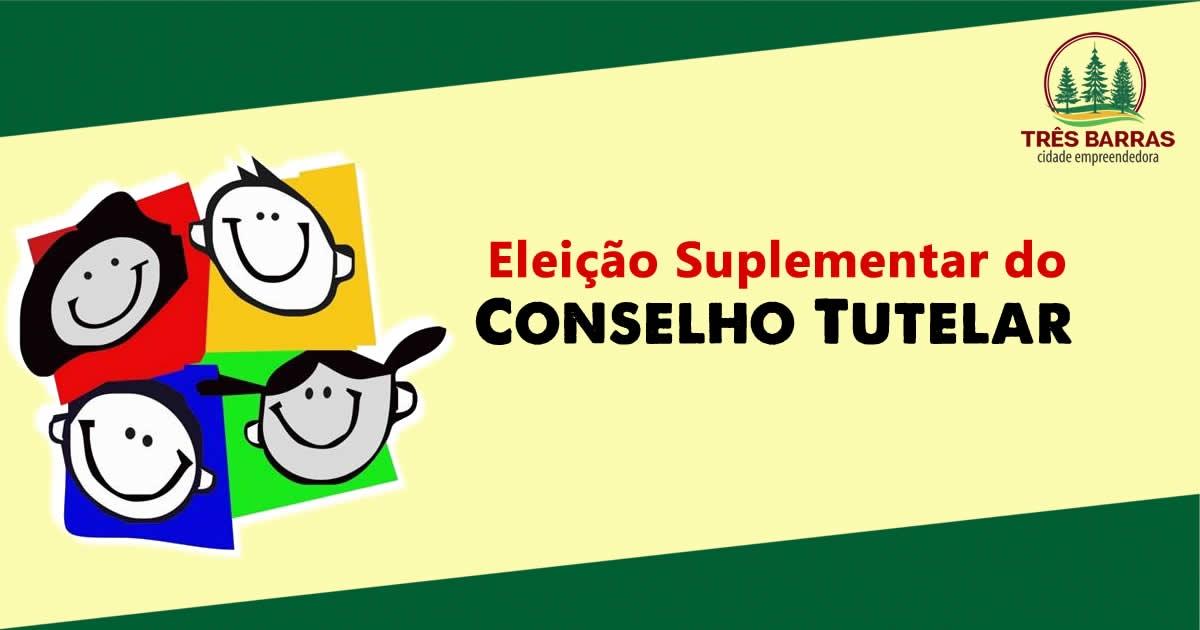 Prorrogado o prazo de inscrições para a eleição suplementar de conselheiro tutelar em Três Barras