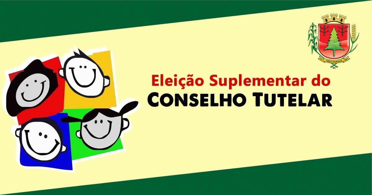 Relação de inscritos para a eleição suplementar do Conselho Tutelar de Três Barras