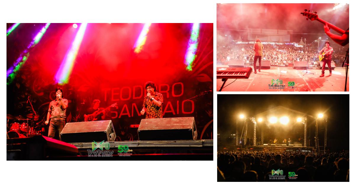 Repertório musical de Teodoro e Sampaio agrada o público na segunda noite da Expo Três Barras
