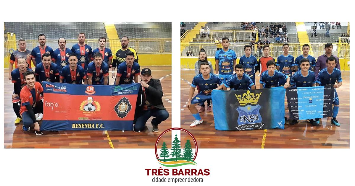 Resenha FC e Só Nós Sem Eles se garantem nas semifinais do Futsal Livre Masculino