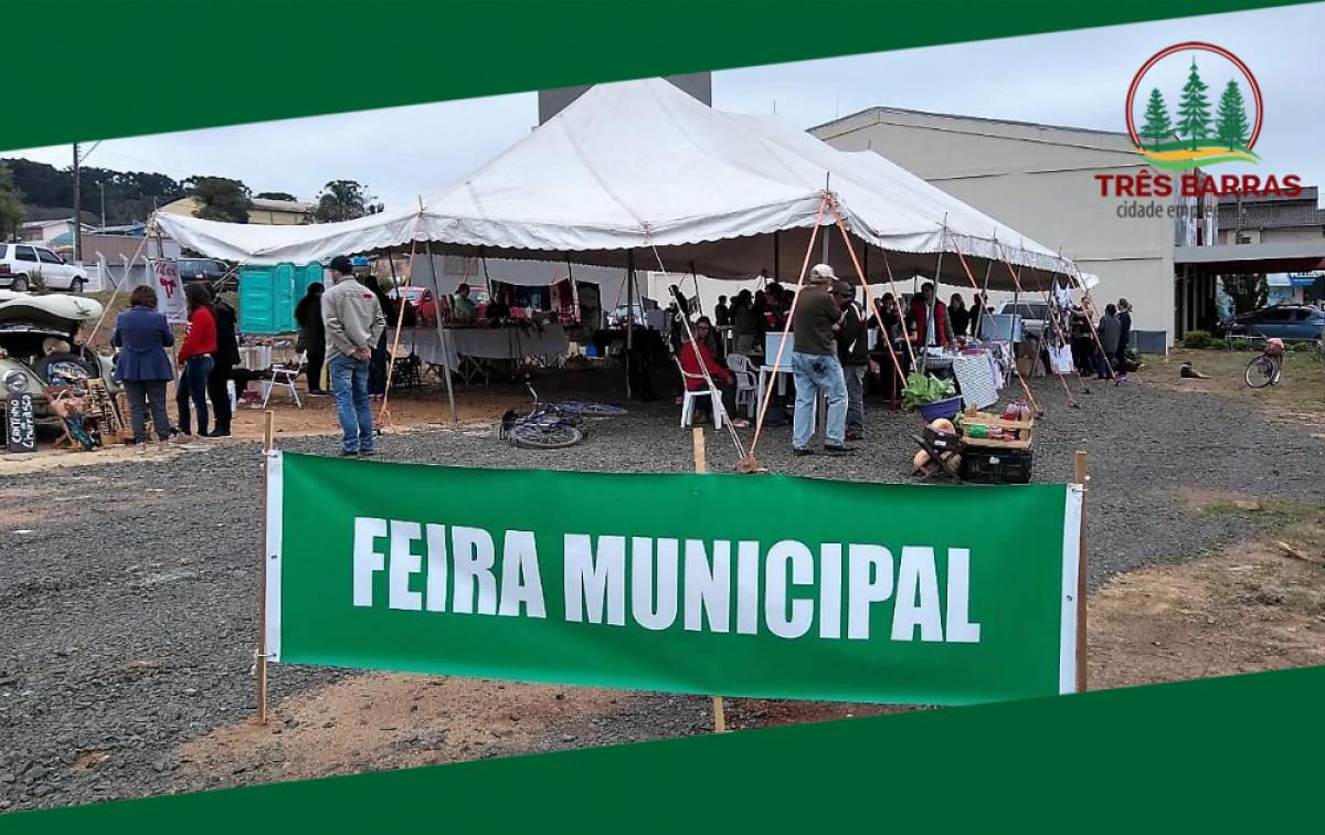 Sábado é dia de Feira Municipal de Artesanato e Produtos Coloniais em Três Barras