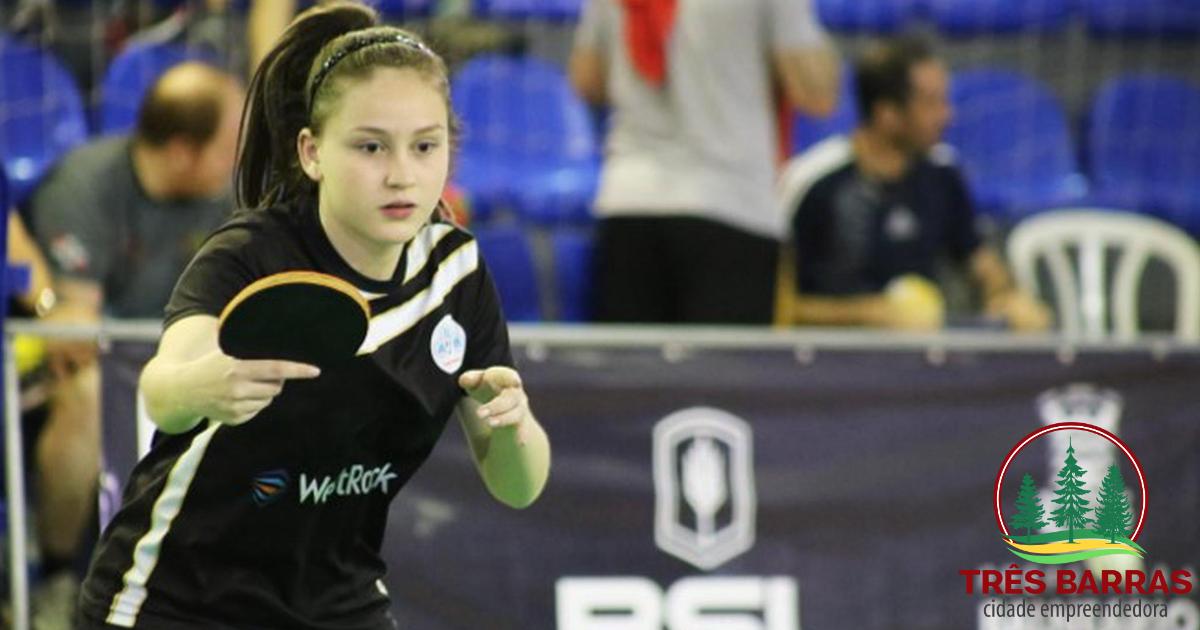 Sabrina Mizva vai representar SC no Campeonato Brasileiro de Tênis de Mesa