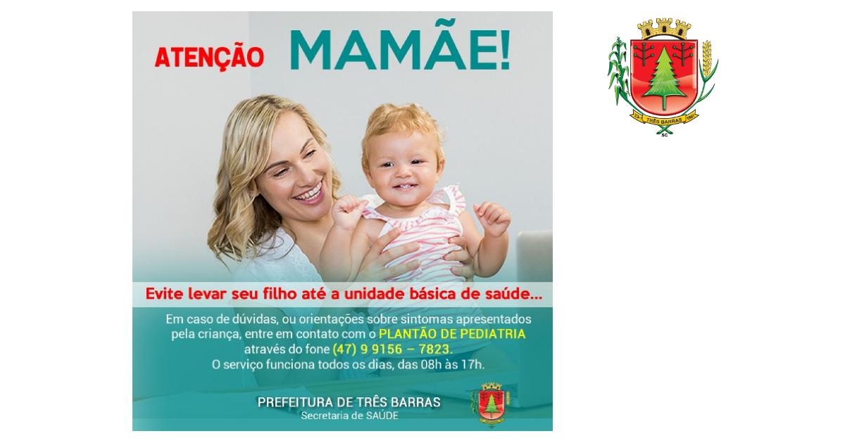 Saúde de Três Barras oferece Plantão de Pediatria via telefone