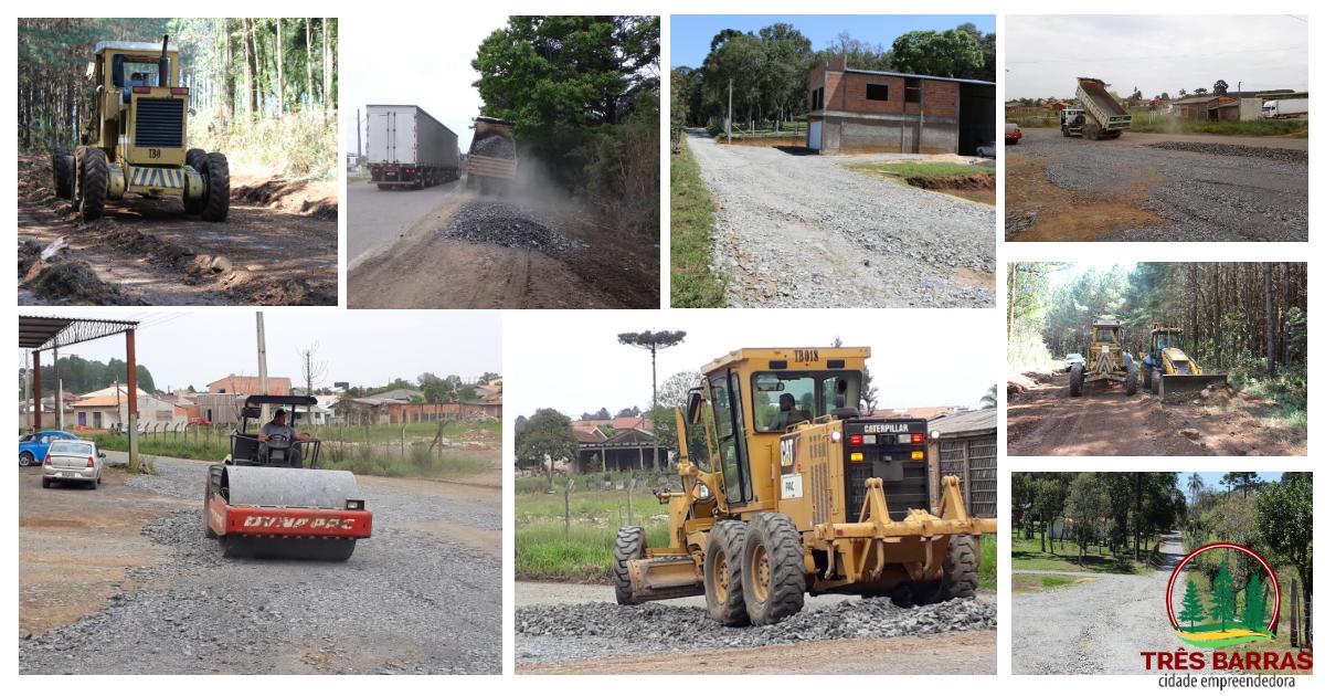 Secretaria de Viação e Obras realiza reparos em estradas do interior e manutenção em bairro da cidade