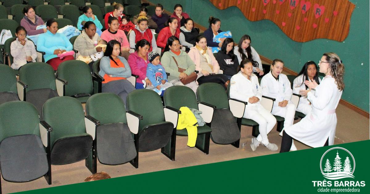 Semana Mundial do Aleitamento Materno é finalizada com nova palestra a gestantes a lactantes