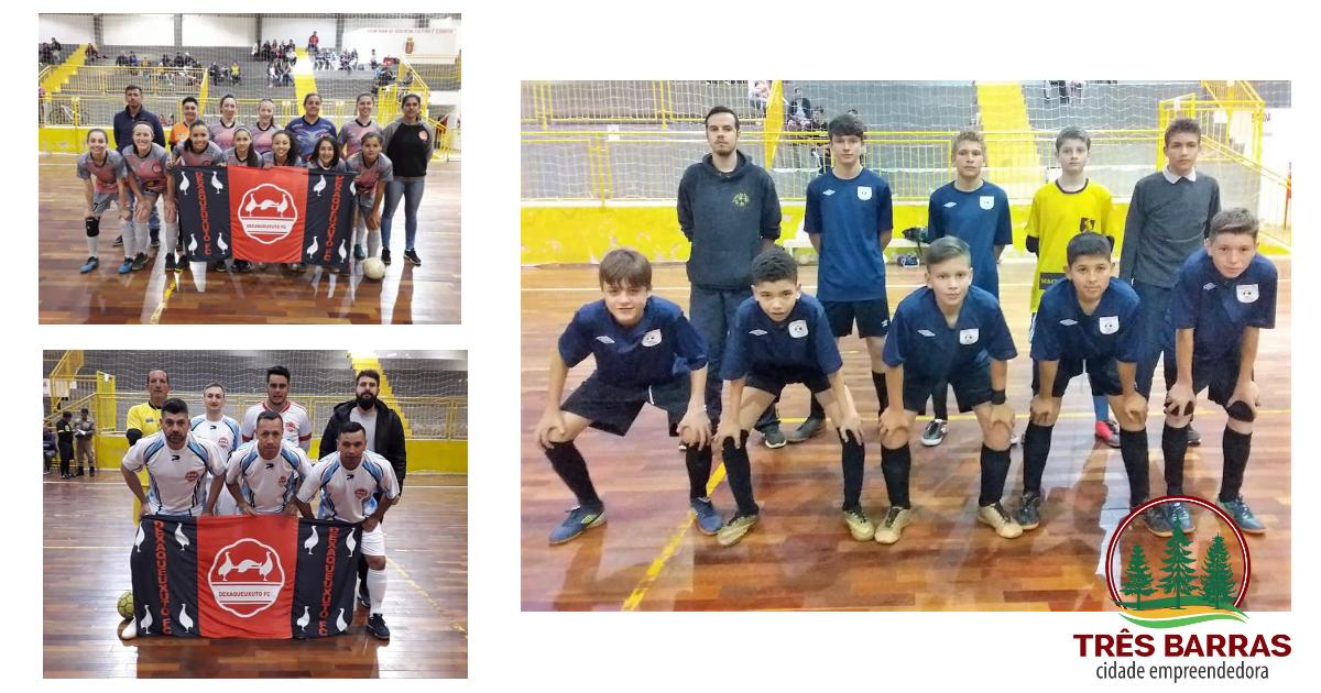 Sexta rodada do Futsal Infantil, Feminino e Veteranos tem média de 11 gols por partida