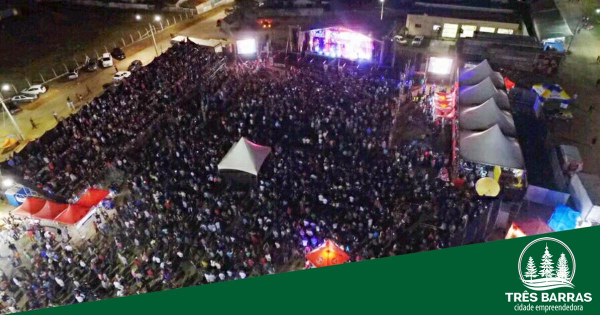 Shows nacionais e rodeio country serão atrações da Expo Três Barras 2019