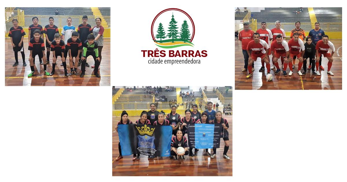 Time da Professora Carla, Só Nós Sem Eles e Olaria vencem pela quarta rodada do Futsal Infantil, Feminino e Veteranos