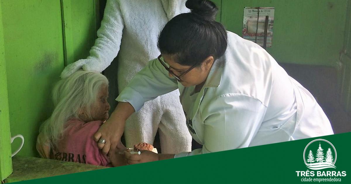 Três Barras está a 7,12% de alcançar a meta de vacinação contra a gripe
