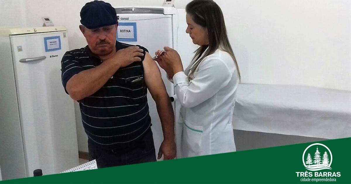 Três Barras finaliza vacinação contra a gripe com mais de 93% de cobertura