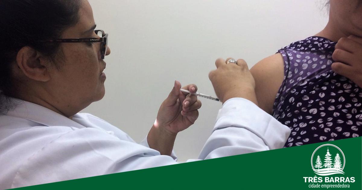 Três Barras já supera em 3% a meta de vacinação contra a gripe