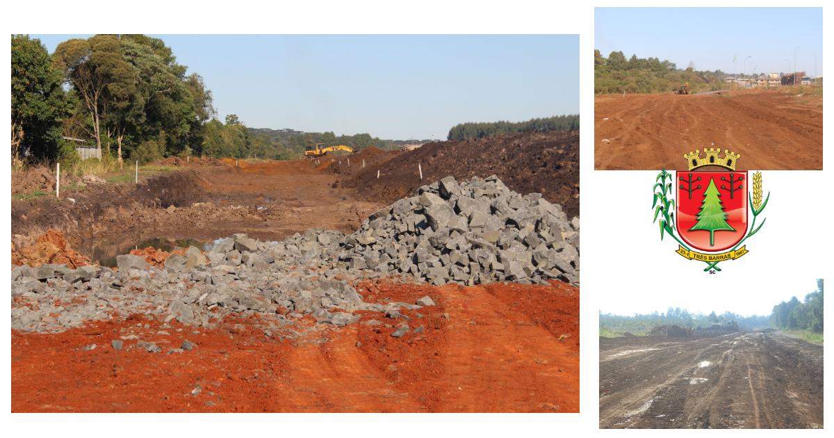 Três Barras: Obras no desvio rodoviário seguem em ritmo acelerado