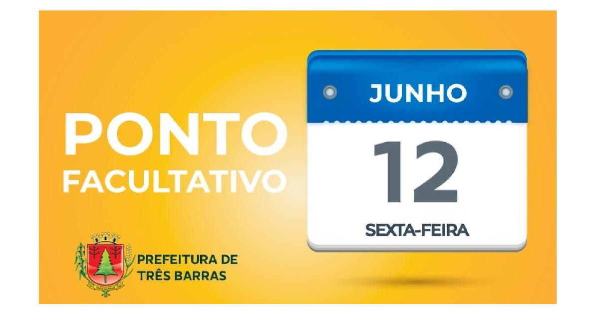 Três Barras: repartições públicas municipais terão ponto facultativo na sexta-feira