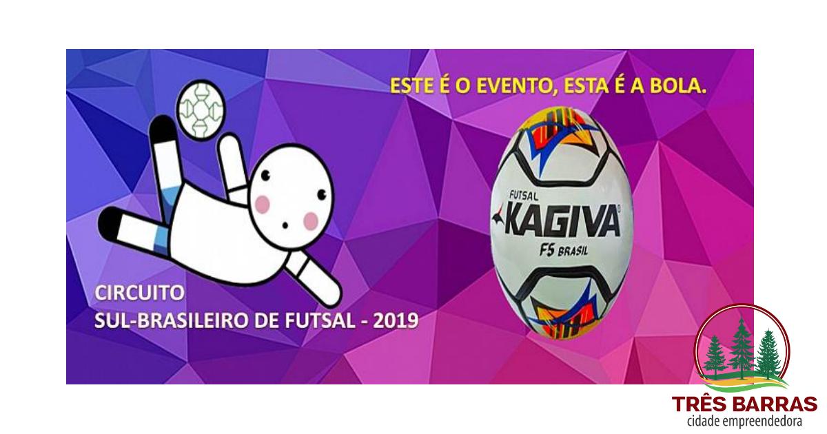 Três Barras sedia etapa do Circuito Sul Brasileiro de Futsal neste final de semana