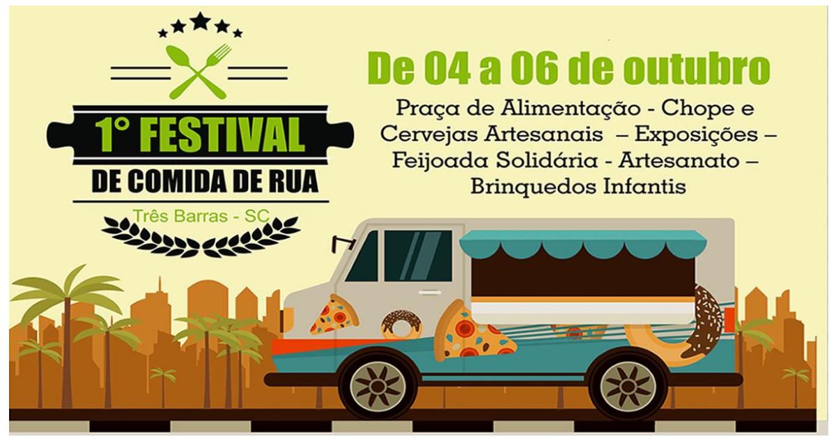 Três Barras terá 1° Festival de Comida de Rua em outubro