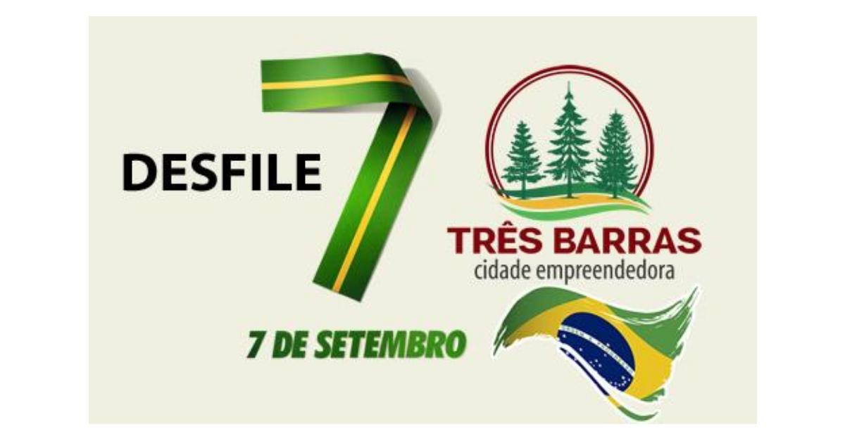 Três Barras terá desfiles cívicos pela manhã e à tarde no dia 07 de setembro