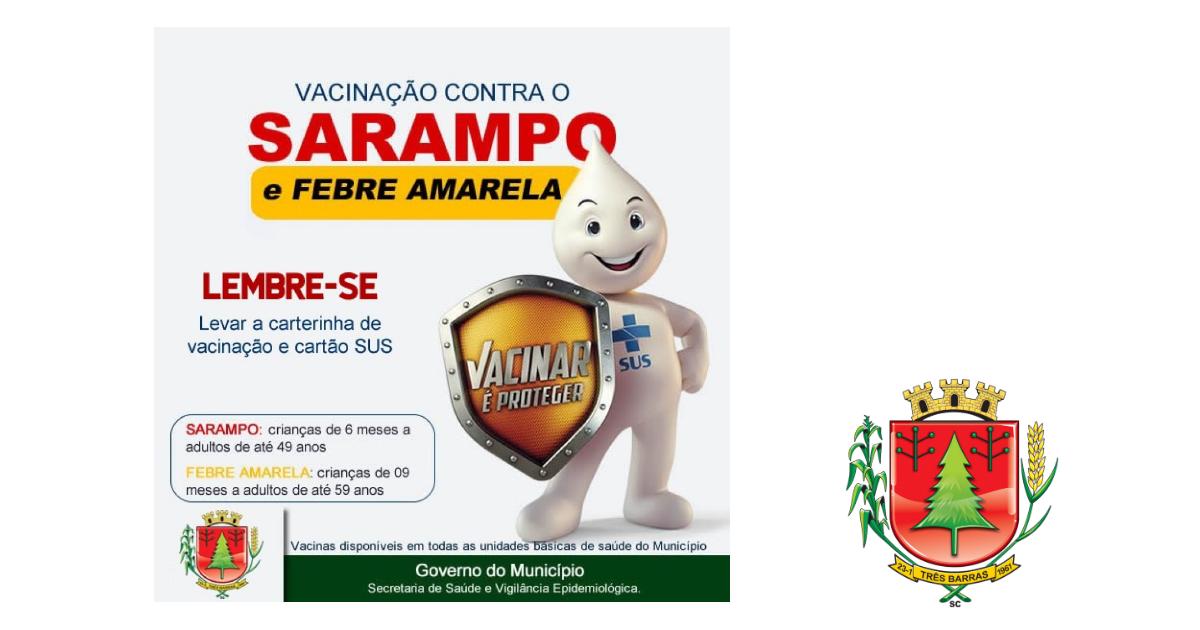 Vacinação contra o Sarampo e Febre Amarela segue até esta sexta-feira