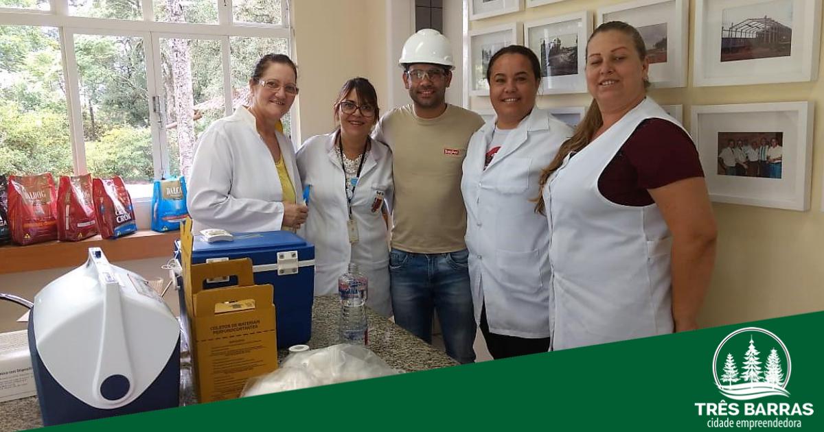 Vigilância Epidemiológica finaliza esquema vacinal em trabalhadores de empresa do interior do município
