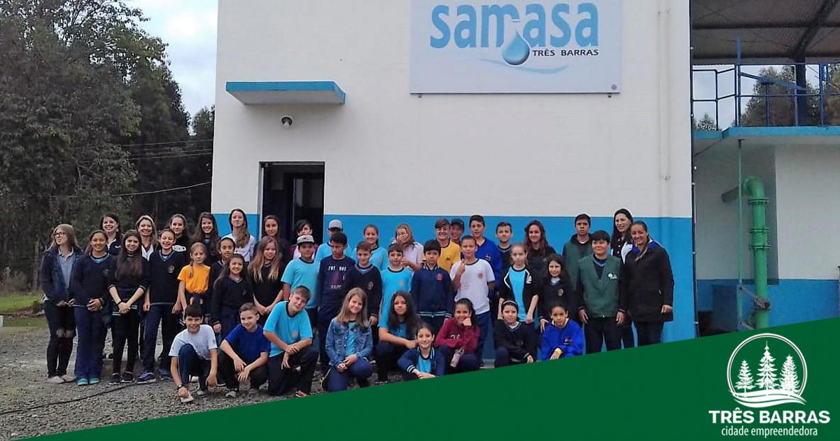 Visitas guiadas na ETA do Samasa tiveram sequência com alunos de mais duas escolas